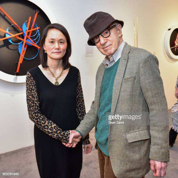 SoonYi Previn and Woody Allen attend The Art Show Gala Preview at Park Avenue Armory on February 27 2018 in New York City