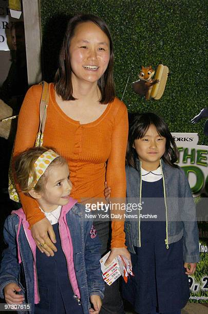 SoonYi Previn arrives with her daughters Manzie Tio Allen and Bechet Dumaine Allen for a special screening of the movie Over the Hedge at the Chelsea...