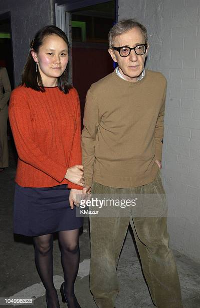 """Soon-Yi Previn & Woody Allen during After Party for New York Premiere of """"Hollywood Ending"""" in New York City, New York, United States."""
