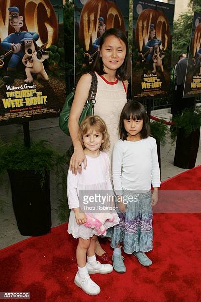 SoonYi Previn Woody Allen's wife and daughters Manzie and Bechet attend the Deamworks premiere of Wallace Gromit The Curse of The WereRabbit at...