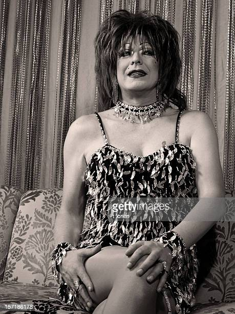 soooo ready. - transvestite stock photos and pictures