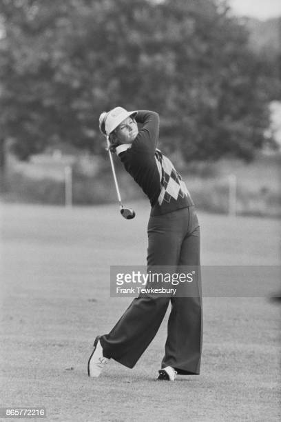 Soouth Africanborn American professional golfer Sally Little in action during Colgate European Open Sunningdale GC UK 4th August 1978