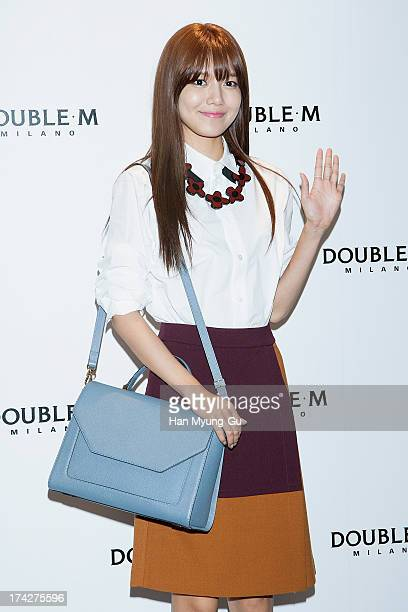 Sooyoung of South Korean girl group Girls' Generation attends an autograph session for the 'Double M' at Lotte Department Store on July 23 2013 in...