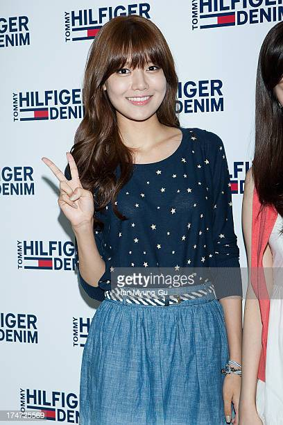 Sooyoung of South Korean girl group Girls' Generation attends an autograph session for the 'Tommy Hilfiger Denim' at Hyundai Department Store on July...