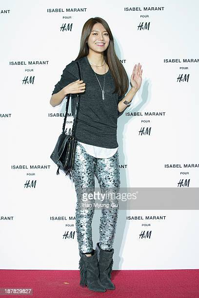 Sooyoung of South Korean girl group Girls' Generation attends Isabel Marant Pour H&M pre-shopping and party at Noon Square H&M Store on November 12,...
