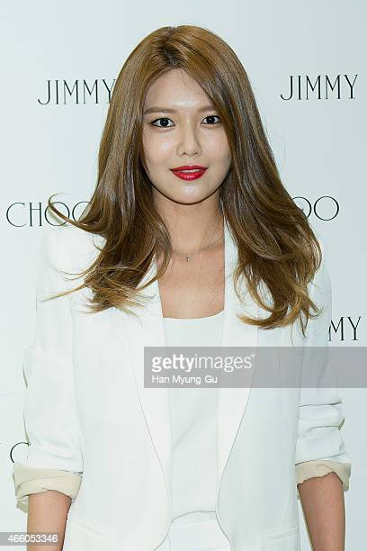 Sooyoung of South Korean girl group Girls' Generation attends the renewal opening event for Jimmy Choo at Hyundai Department Store on March 13 2015...