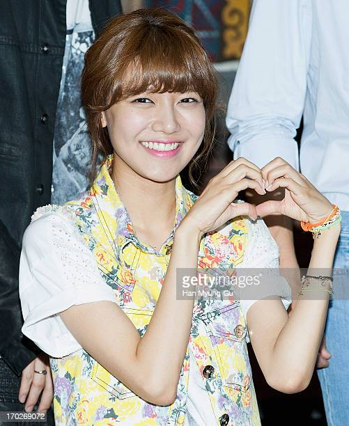 Sooyoung of South Korean girl group Girls' Generation films on location for tvN Drama 'Dating Agency Cyrano' on June 10 2013 in Namyangju South Korea