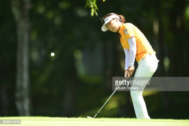 SooYun Kang of South Korea chips onto the 13th green during the final round of the meiji Cup 2017 at the Sapporo Kokusai Country Club Shimamatsu...
