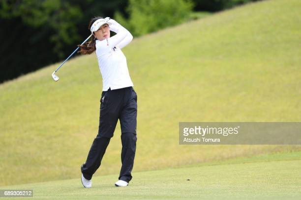 SooYun Kang of South Korea hits her second shot on the 7th hole during the final round of the Resorttrust Ladies at the Oakmont Golf Club on May 28...