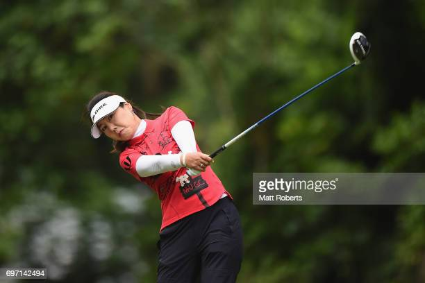 SooYun Kang of South Korea hits her tee shot on the 2nd hole during the final round of the Nichirei Ladies at the on June 18 2017 in Chiba Japan