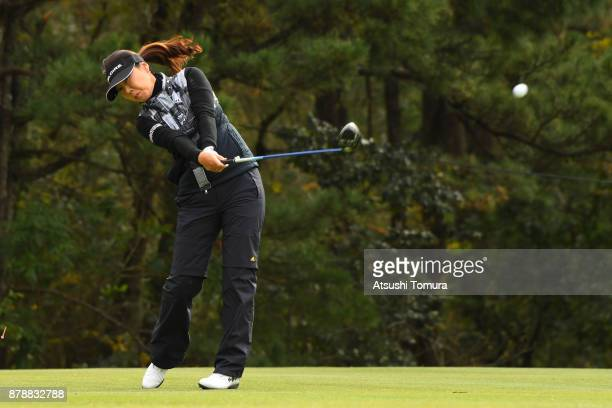 SooYun Kang of South Korea hits her tee shot on the 4th hole during the third round of the LPGA Tour Championship Ricoh Cup 2017 at the Miyazaki...