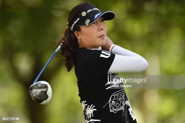 SooYun Kang of South Korea hits her tee shot on the 5th hole during the third round of the 50th LPGA Championship Konica Minolta Cup 2017 at the Appi...