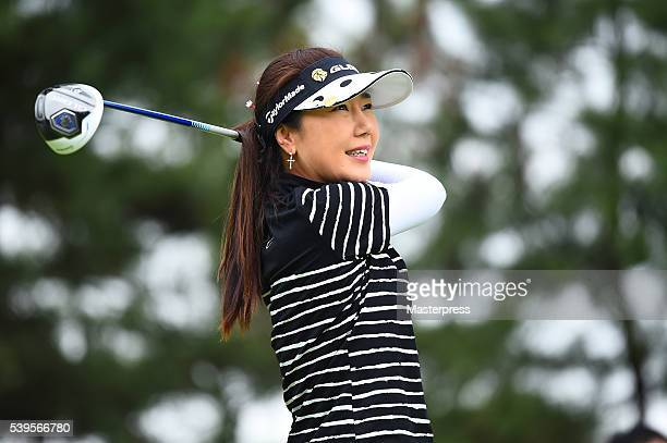 SooYun Kang of South Korea looks on during the final round of the Suntory Ladies Open at the Rokko Kokusai Golf Club on June 12 2016 in Kobe Japan