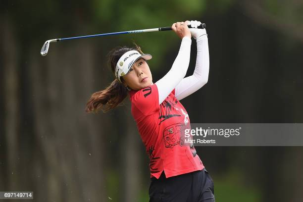 SooYun Kang of South Korea plays her approach shot on the 9th hole during the final round of the Nichirei Ladies at the on June 18 2017 in Chiba Japan
