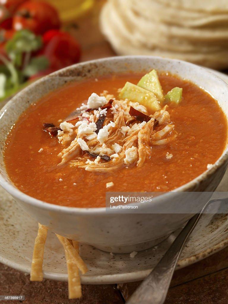 Sopa de tortilla : Stock Photo