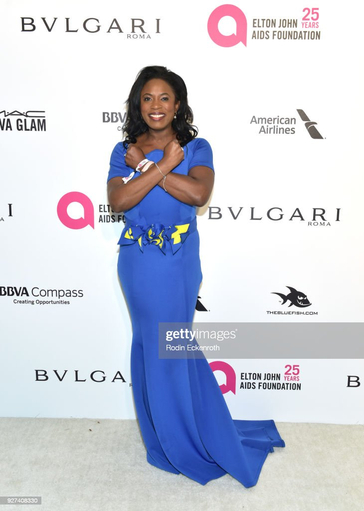 Sope Aluko attends the 26th annual Elton John AIDS Foundation's Academy Awards Viewing Party at The City of West Hollywood Park on March 4, 2018 in West Hollywood, California.