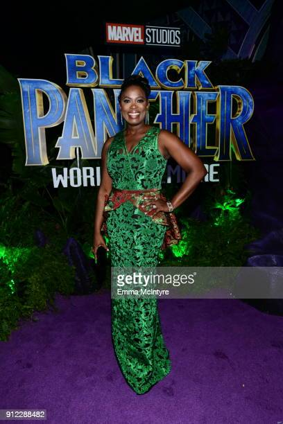 Sope Aluko attends the premiere Of Disney and Marvel's Black Panther at Dolby Theatre on January 29 2018 in Hollywood California