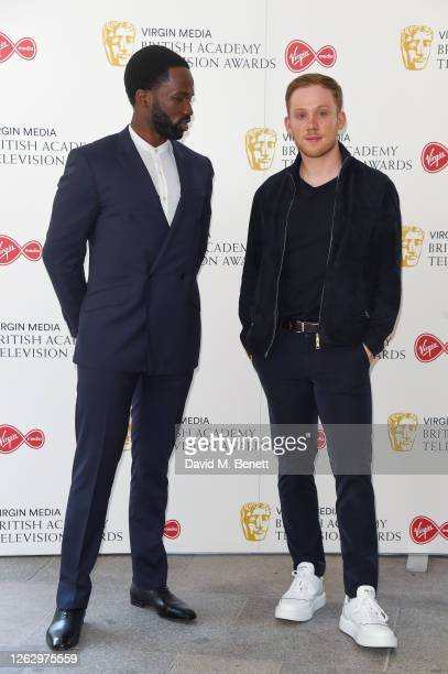 Sope Dirisu and Joe Cole attend the Virgin Media British Academy Television Award 2020 at Television Centre on July 31 2020 in London England