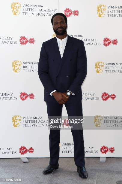 Sope Dirisu attends the Virgin Media British Academy Television Award 2020 at Television Centre on July 31 2020 in London England