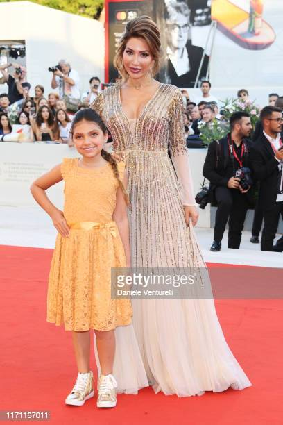 Sophia Abraham and Farrah Abraham walk the red carpet ahead of the J'Accuse screening during the 76th Venice Film Festival at Sala Grande on August...