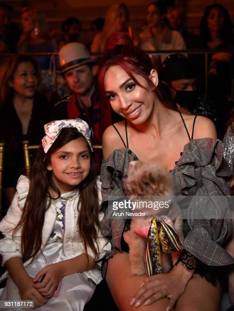 Sophia Abraham Farrah Abraham and dog Blue attend Los Angeles Fashion Week Powered by Art Hearts Fashion LAFW FW/18 10th Season Anniversary Backstage...