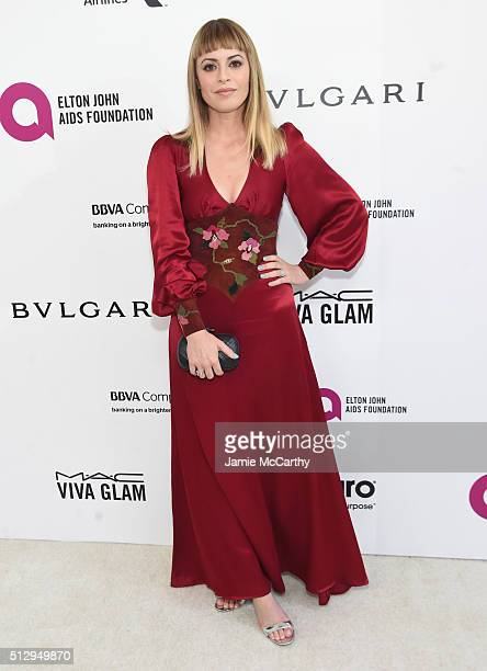 Sophia Amoruso attends the 24th Annual Elton John AIDS Foundation's Oscar Viewing Party at The City of West Hollywood Park on February 28 2016 in...