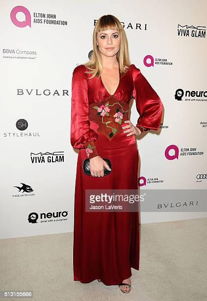 Sophia Amoruso attends the 24th annual Elton John AIDS Foundation's Oscar viewing party on February 28, 2016 in West Hollywood, California.