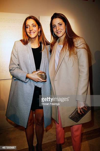 Sophia and Anna De Pahlen attends the Cocktail Reception for Anh Duong exhibition Can You See Me and the launch of the book Lapo Elkann 'The Italian'...