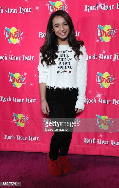Sophia Angelic Montero attends social media influencer Annie LeBlanc's 13th birthday party at Calamigos Beach Club on December 9 2017 in Malibu...