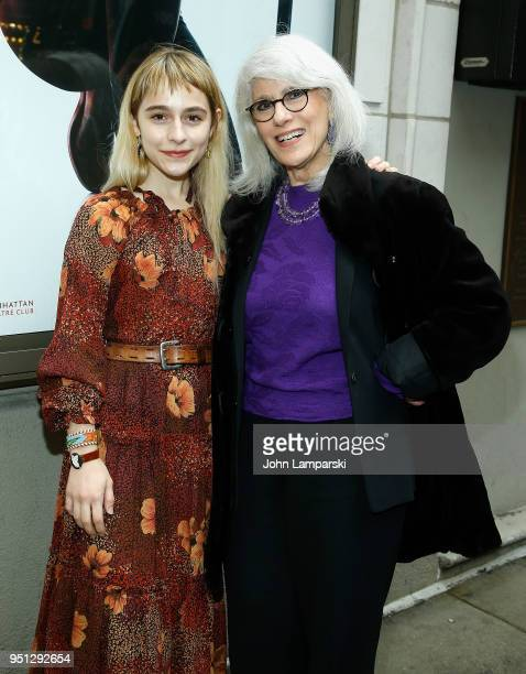 Sophia Ann Caruso and Jamie de Roy attend 'Saint Joan' Broadway opening night at Samuel J Friedman Theatre on April 25 2018 in New York City