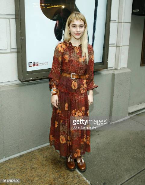 Sophia Ann Caruso attends 'Saint Joan' Broadway opening night at Samuel J Friedman Theatre on April 25 2018 in New York City