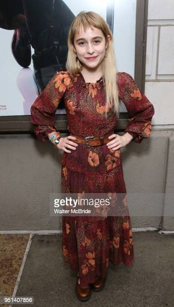 Sophia Ann Caruso attends the Broadway Opening Night of 'Saint Joan' at the Samuel J Friedman Theatre on April 25 2018 in New York City
