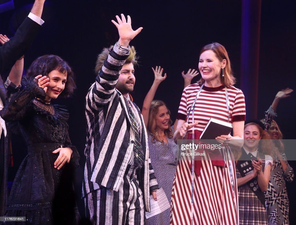 Sophia Anne Caruso As Lydia Deetz And Alex Brightman As News Photo Getty Images