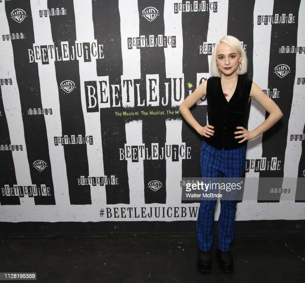 Sophia Anne Caruso attends Broadway's 'Beetlejuice' First Look Photocall at Subculture on February 28 2019 in New York City