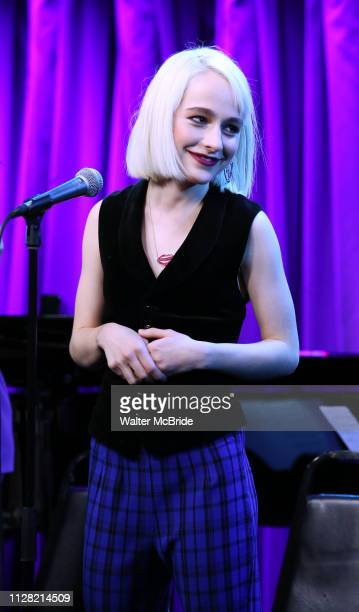 Sophia Anne Caruso during Broadway's 'Beetlejuice' First Look Presentation at Subculture on February 28 2019 in New York City