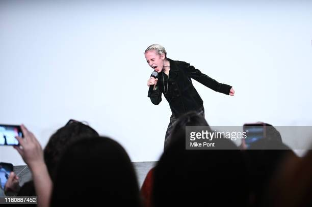 Sophia Anne Caruso performs at Four Roses Bourbon's Broadway Tastes presented by iHeartRadio Broadway hosted by Alex Brightman with special guest...