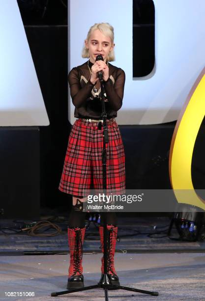 Sophia Anne Caruso previews Beetlejuice during BroadwayCon at New York Hilton Midtown on January 13 2019 in New York City