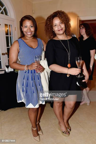 Sophia Bishop and Alisha Beverly attend Katrina and Don Peebles Host NY Mission Society Summer Cocktails at Private Residence on July 7 2017 in...