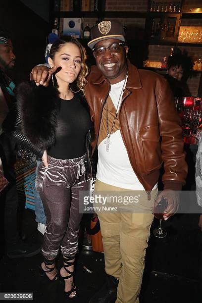 Sophia Body and Uncle Murda attend DJ Suss One Birthday Celebration at The Loft on November 15 2016 in New York City