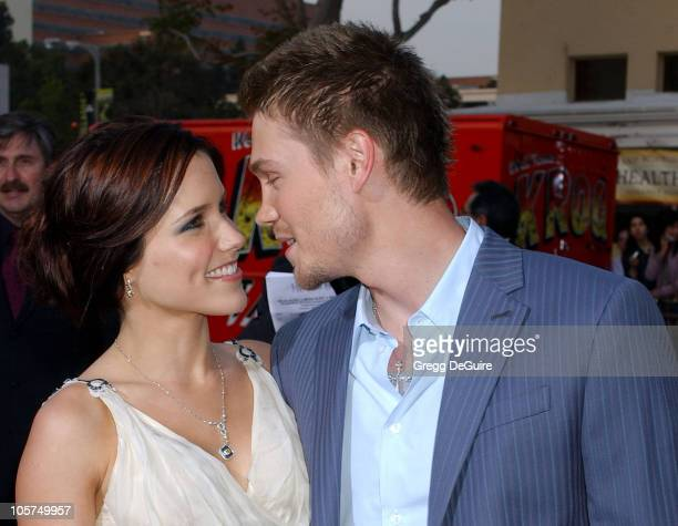 Sophia Bush and Chad Michael Murray during 'House of Wax' Los Angeles Premiere Arrivals at Mann Village Theatre in Westwood California United States