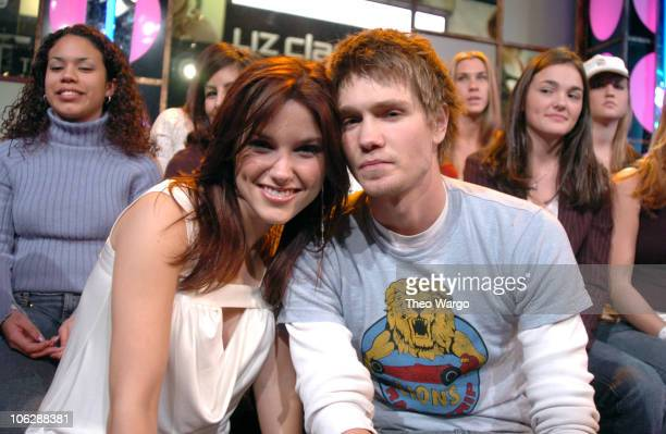 Sophia Bush and Chad Michael Murray during Spankin' New Breakout Stars Week on MTV's TRL January 16 2004 at MTV Studios Times Square in New York City...
