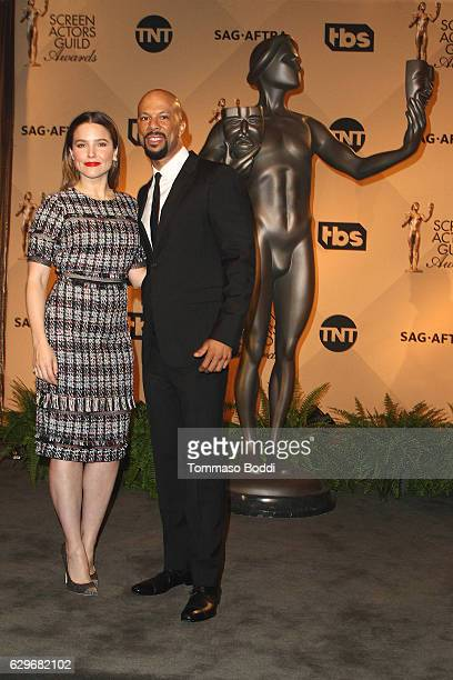 Sophia Bush and Common attend the 23rd Annual SAG Awards Nominations Announcement at Pacific Design Center on December 14, 2016 in West Hollywood,...
