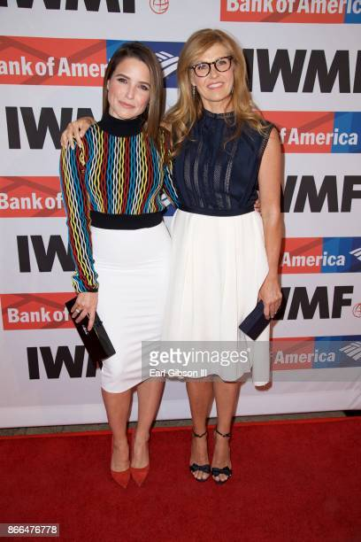 Sophia Bush and Connie Britton attend the International Women's Media Foundation 2017 Courage In Journalism Awards at NeueHouse Hollywood on October...