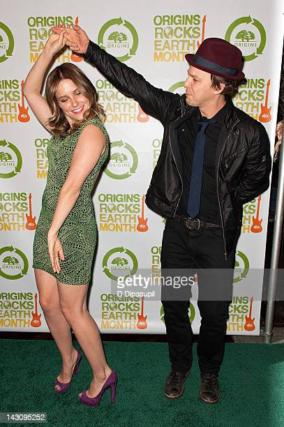 Sophia Bush and Gavin DeGraw attend the 3rd Annual Origins Rocks Earth Month Concert on April 18 2012 in New York City