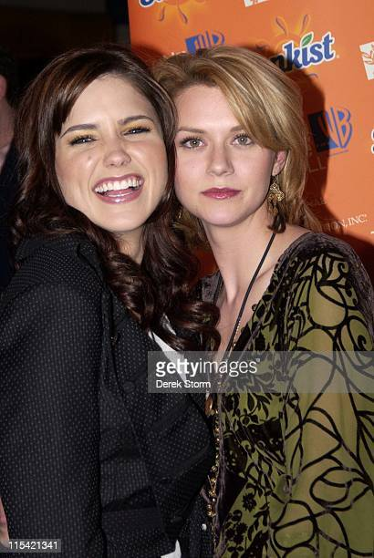 Sophia Bush and Hilarie Burton during The Cast of 'One Tree Hill' Appears at FYE in New York City February 7 2006 at FYE in New York City New York...