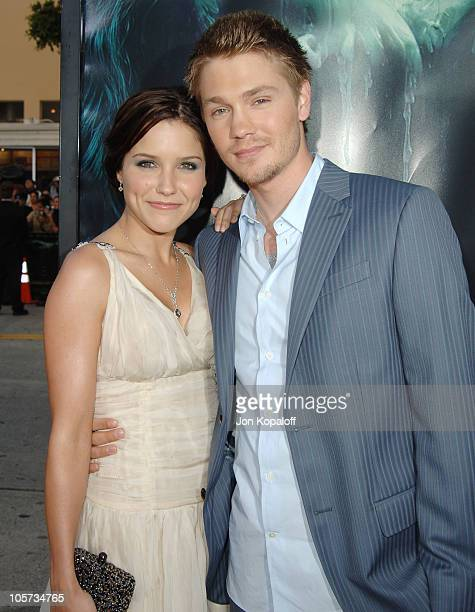 Sophia Bush and husband Chad Michael Murray during 'House of Wax' Los Angeles Premiere Outside Arrivals at Mann Village Theater in Westwood...
