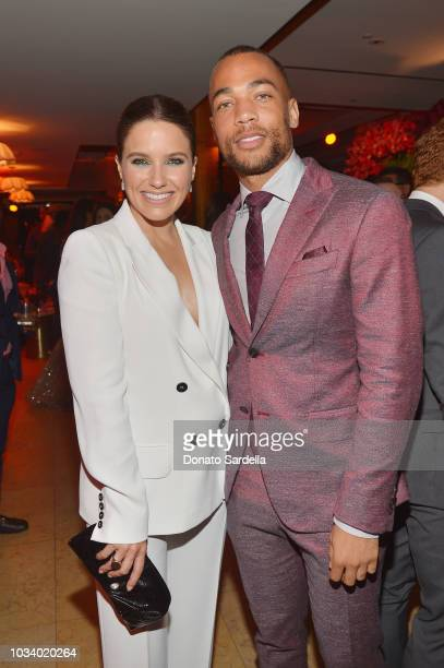 Sophia Bush and Kendrick Sampson attend the 2018 PreEmmy Party hosted by Entertainment Weekly and L'Oreal Paris at Sunset Tower on September 15 2018...