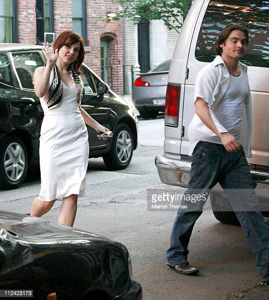 Sophia Bush and Kevin Zegers during Sophia Bush and Kevin Zegers on Location for 'The Narrows' in New York City May 24 2007 in New York City New York...