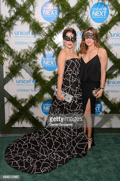 Sophia Bush and Marina Squerciati attend UNICEF Neverland Masquerade Ball at Moonlight Studios on October 16 2015 in Chicago Illinois