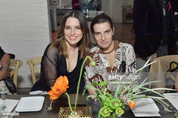 Sophia Bush and Rachel Comey attend Conde Nast The Women March's Dinner Party to Celebrate the One Year Anniversary of the March the Publication of...